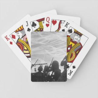 Alerted GIs of M-51 Anti-aircraft_War Image Poker Deck