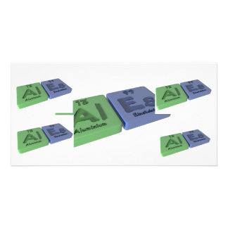Ales  as Al Aluminium  and Es Einsteinium Photo Greeting Card