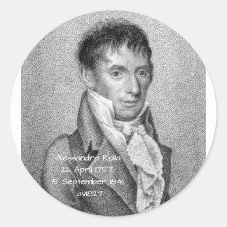 Alessandro Rolla before 1827 Classic Round Sticker