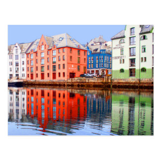 Alesund waterfront, Norway Postcard