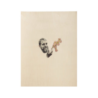 Alex Trapp Minimalist Poster Wood Poster