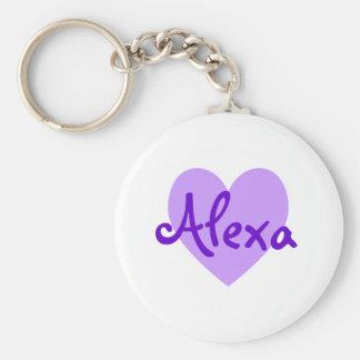Alexa in Purple Key Ring