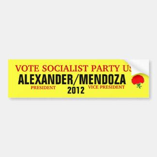 Alexander 2012 bumper sticker