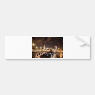 Alexander 3 bridge in Paris France at night Bumper Sticker