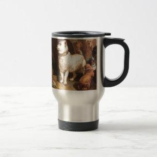 Alexander and Diogenes by Edwin Henry Landseer Travel Mug