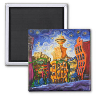 Alexander and Main Square Magnet