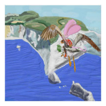 Alexander And Seagull Arrive At The Isle Of Wight Print