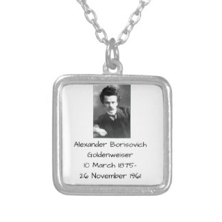 Alexander Borisovich Goldenweiser Silver Plated Necklace