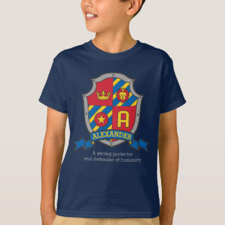Alexander boys name & meaning knights shield T-Shirt