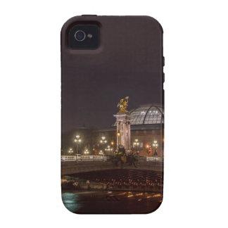 Alexander bridge and large palace At night Paris iPhone 4/4S Cover