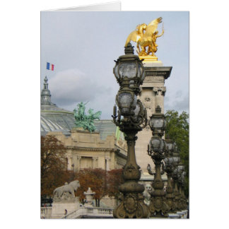 Alexander Bridge View Paris Card