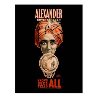Alexander crystal seer knows sees tells all postcard