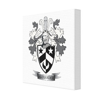 Alexander Family Crest Coat of Arms Canvas Print