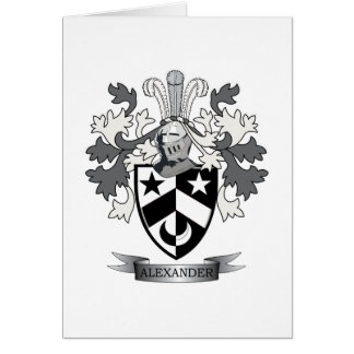 Alexander Family Crest Coat of Arms Card