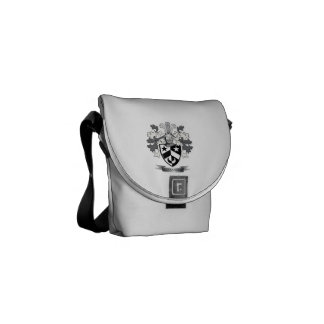 Alexander Family Crest Coat of Arms Courier Bag