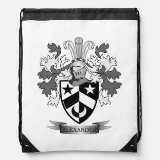 Alexander Family Crest Coat of Arms Drawstring Bag