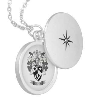 Alexander Family Crest Coat of Arms Locket Necklace