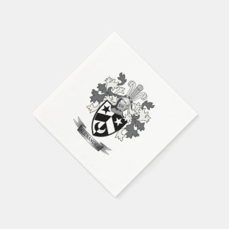 Alexander Family Crest Coat of Arms Paper Napkin