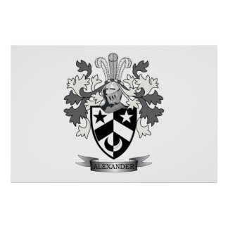 Alexander Family Crest Coat of Arms Poster