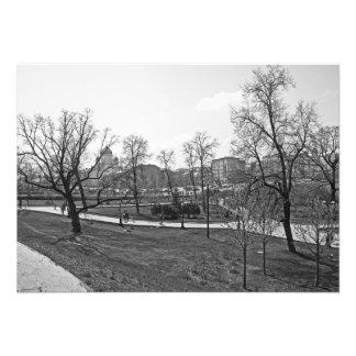 Alexander Garden at the Kremlin walls Photo Print