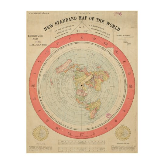 The New Map Of The World.Alexander Gleason S New Standard Map Of The World Wood Wall Art