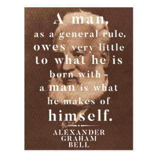 Alexander Graham Bell Life Wisdom Quote Postcard