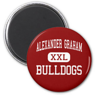 Alexander Graham - Bulldogs - Middle - Charlotte Fridge Magnet