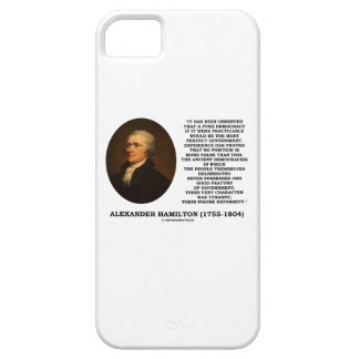 Alexander Hamilton Democracy Experience Tyranny iPhone 5/5S Cover