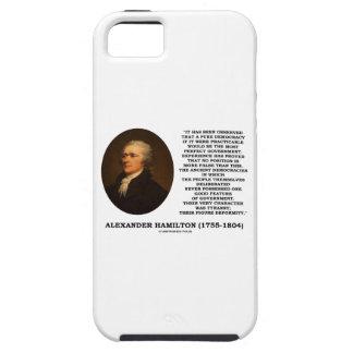 Alexander Hamilton Democracy Experience Tyranny iPhone 5/5S Covers