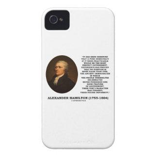 Alexander Hamilton Democracy Experience Tyranny iPhone 4 Case