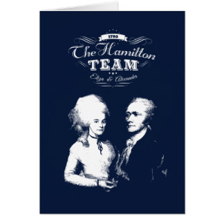Alexander Hamilton, Eliza. History Gifts. Portrait Card