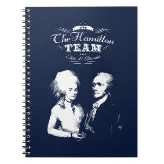 Alexander Hamilton, Eliza. History Gifts. Portrait Notebook