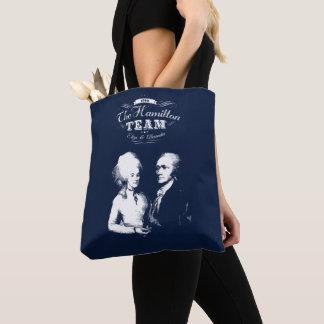 Alexander Hamilton, Eliza. History Gifts. Portrait Tote Bag