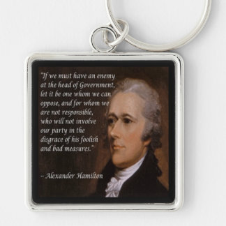 "Alexander Hamilton ""Enemy Leader"" Gift Key Ring"