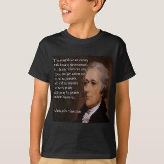 "Alexander Hamilton ""Enemy Leader"" Gift T-Shirt"