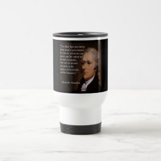 "Alexander Hamilton ""Enemy Leader"" Gift Travel Mug"