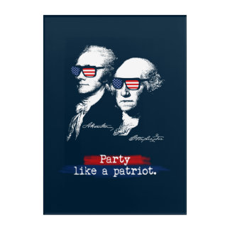 Alexander Hamilton George Washington Patriots Gift Acrylic Wall Art