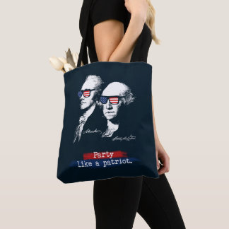 Alexander Hamilton George Washington Patriots Gift Tote Bag