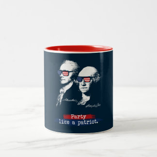 Alexander Hamilton George Washington Patriots Gift Two-Tone Coffee Mug