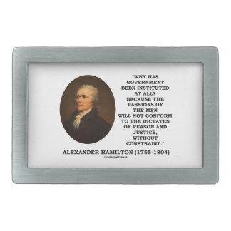 Alexander Hamilton Government Passion Constraint Belt Buckle