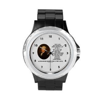 Alexander Hamilton Government Passion Constraint Wristwatches