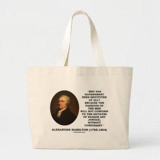 Alexander Hamilton Government Passion Constraint Jumbo Tote Bag