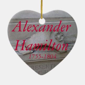 Alexander Hamilton heart ornament