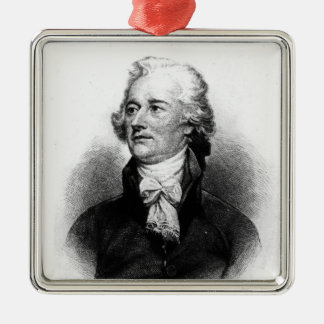 Alexander Hamilton Metal Ornament