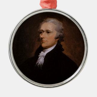 Alexander Hamilton Metal Ornament