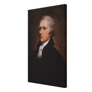 Alexander Hamilton portrait by John Trumbull Canvas Print