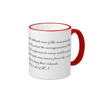 Alexander Hamilton Quotation Mugs