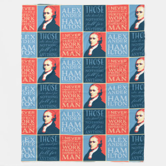 Alexander Hamilton Quotations Fleece Blanket