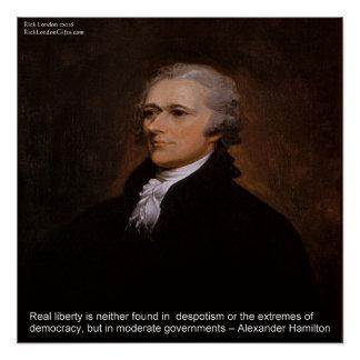 "Alexander Hamilton ""Real Liberty"" Poster"