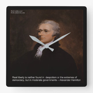 "Alexander Hamilton ""Real Liberty"" Wall Clock"